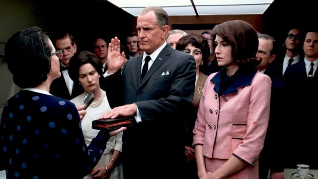 Woody Harrelson, Jennifer Jason Leigh in LBJ
