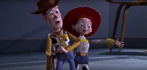 Woody and Jessie in Toy Story 2