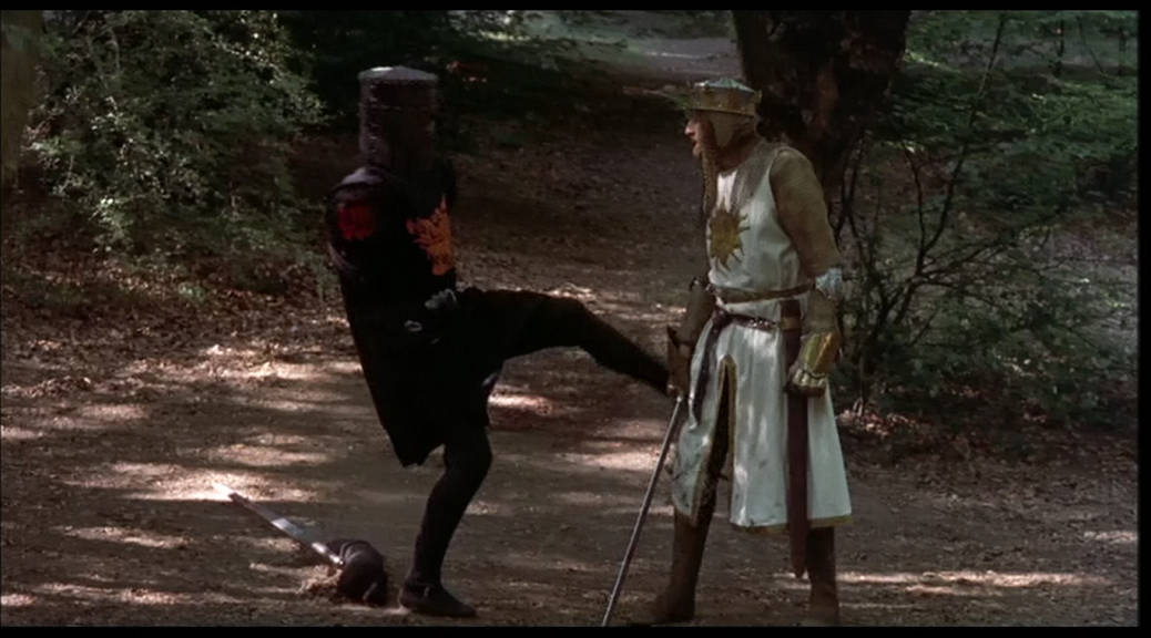 Graham Chapman and John Clese in Monty Python and the Holy Grail