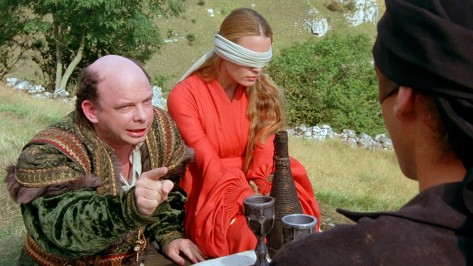 Wallace Shaw and Robin Wright in The Princess Bride