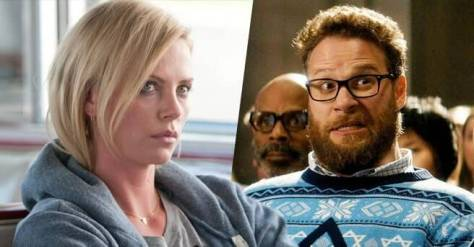 Charlize Theron and Seth Rogen in Flarsky