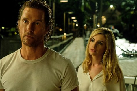 Anne Hathaway and Matthew McConaughey in Serenity