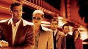 George Clooney, Brad Pitt, Matt Damon, Andy Garcia and Julia Roberts in Ocean's Eleven