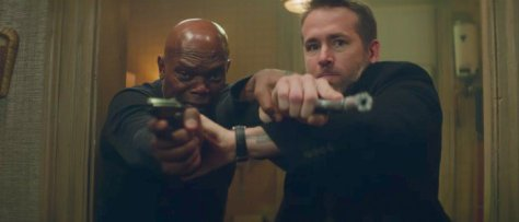 Ryan Reynolds and Samuel L. Jackson in The Hitman's Bodyguard