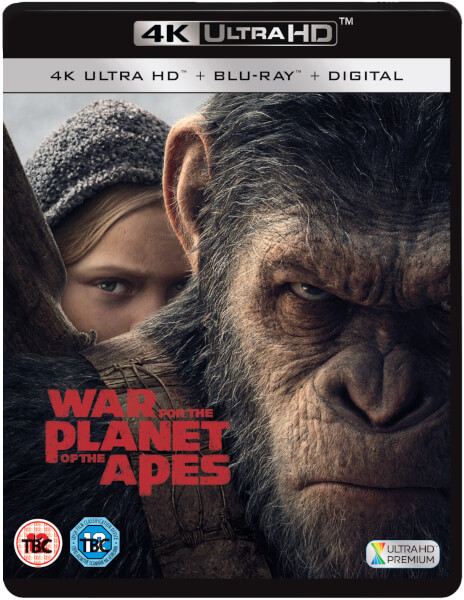War for the Planet of the Apes Blu Ray