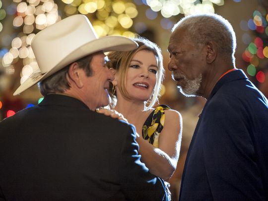 Morgan Freeman, Tommy Lee Jones, and Rene Russo in Just Getting Started