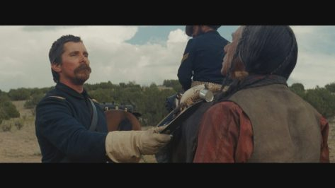 Wes Studi and Christian Bale in Hostiles