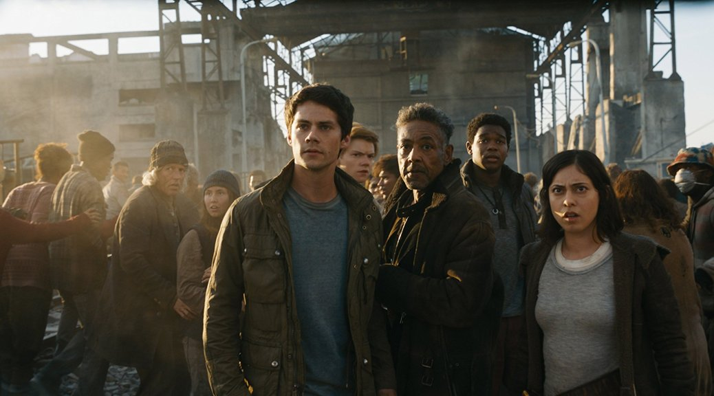 Dylan O'Brien and Giancarlo Esposito in Maze Runner: The Death Cure