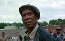 Morgan Freeman in The Shawshank Redemption