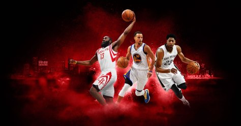 James hardin and Steph Curry in NBA 2K16