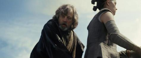 Mark Hamill and Daisy Ridley in Star Wars: The Last Jedi