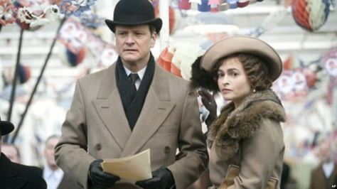 Colin Firth and Helena Bonham Carter in The King's Speech
