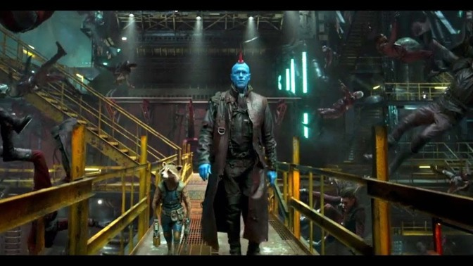 Bradley Cooper and Michael Rooker in Guardians of the Galaxy Vol. 2