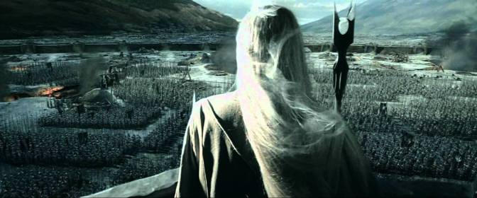 Christopher Lee in The Lord of the Rings: The Two Towers