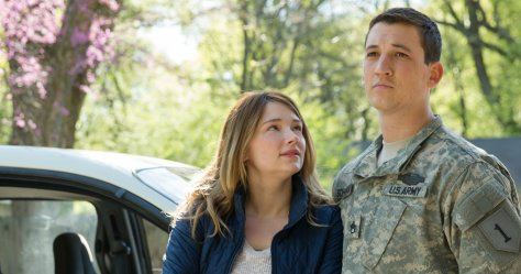 Haley Bennett and Miles Teller in Thank You For Your Service