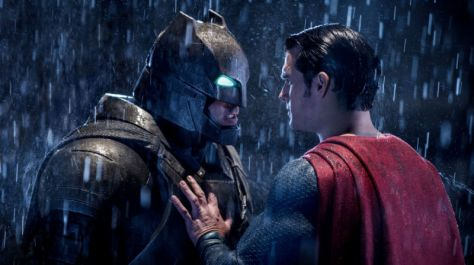 Ben Affleck and Henry Cavill in Batman vs. Superman: Dawn of Justice