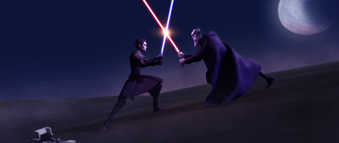 Anakin Skywalker vs. Count Dooku in Star Wars: Clone Wars
