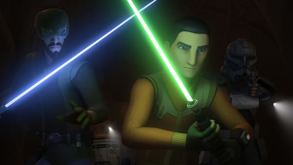 Kanan Jarrus and Ezra Bridger in Star Wars: Rebels