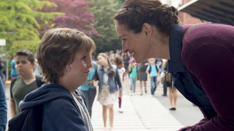 Jason Tremblay and Julia Roberts in Wonder