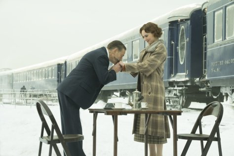 Kenneth Branagh and Daisy Ridley in Murder on the Orient Express
