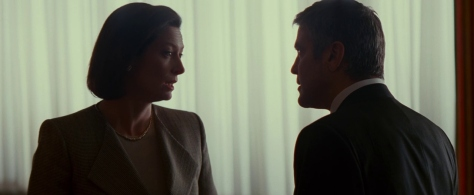 Tilda Swinton and George Clooney in Michael Clayton