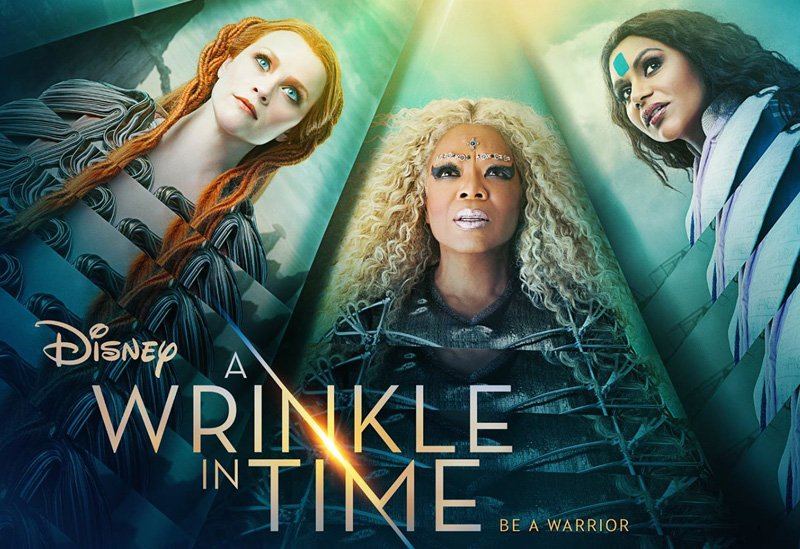 Reese Witherspoon, Oprah Winfrey, and Mindy Kailing in A Wrinkle in TIme