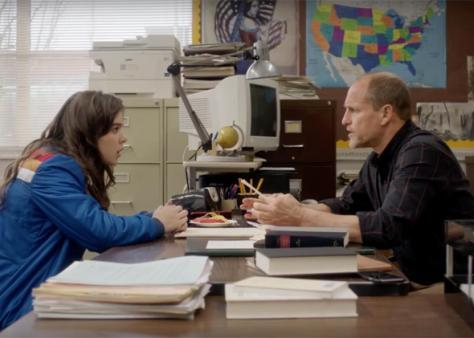 Hailee Steinfeld and Woody Harrelson in Edge of Seventeen