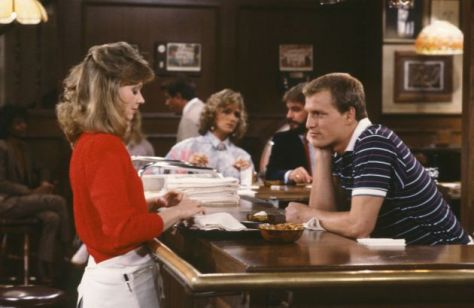 Shelly Long and Woody Harrelson in Cheers