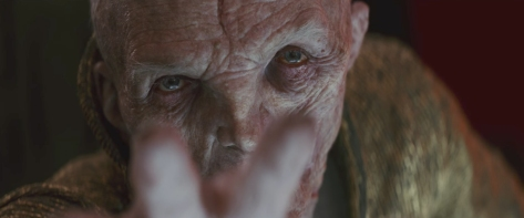Andy Serkis as Supreme Leader Snoke in Star Wars: The Last Jedi