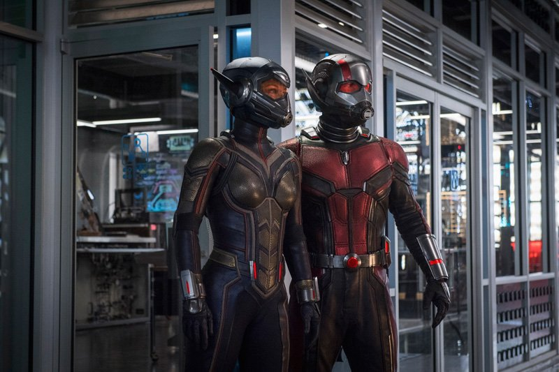 Evangeline Lilly and Paul Rudd in Ant-Man and the Wasp