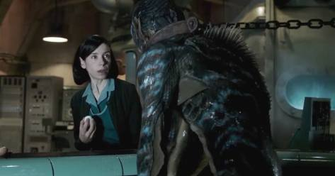 Sally Hawkins and Doug Jones in The Shape of Water