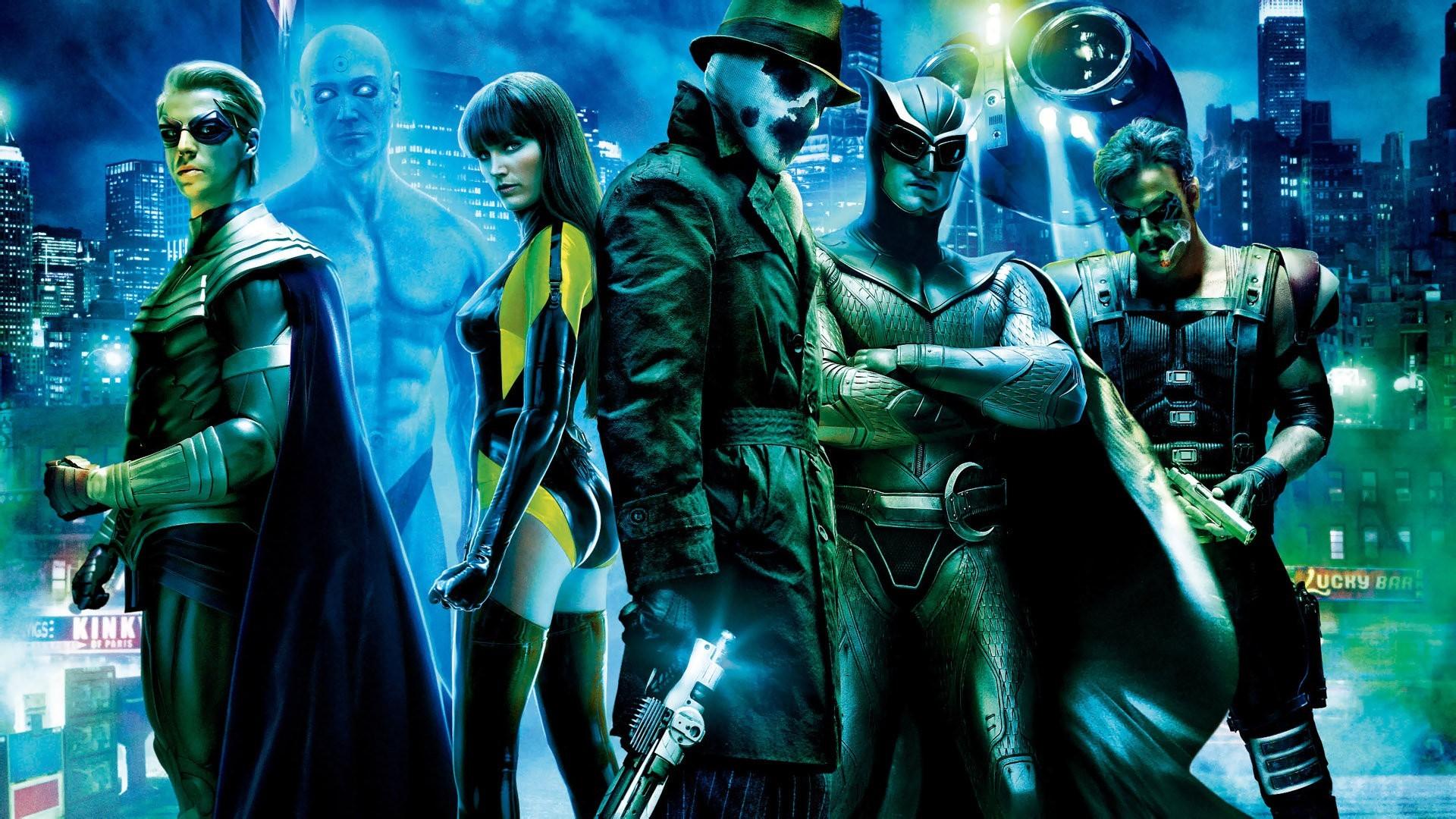 Billy Crudup, Jackie Earle Haley, Patrick Wilson and Jeffery Dean Morgan in Watchmen
