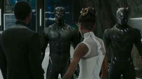 Chadwick Boseman and Leticia Wright in Black Panther