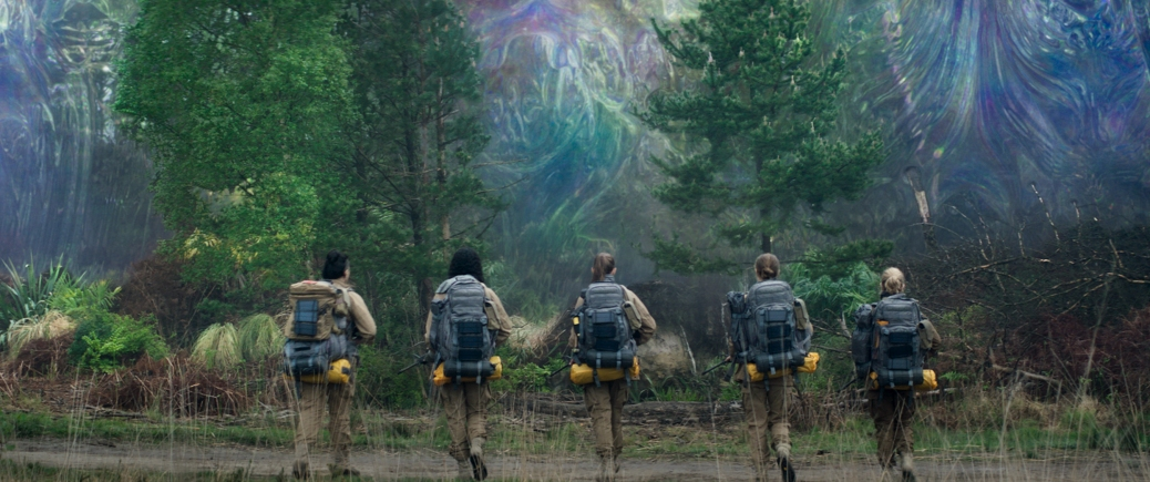 Gina Rodriguez, Tessa Thompson, Tuva Novotny, Natalie Portman and Jennifer Jason Leigh in Annihilation
