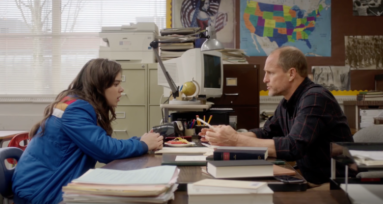 Hailee Steinfeld and Woody Harrelson in The Edge of Seventeen