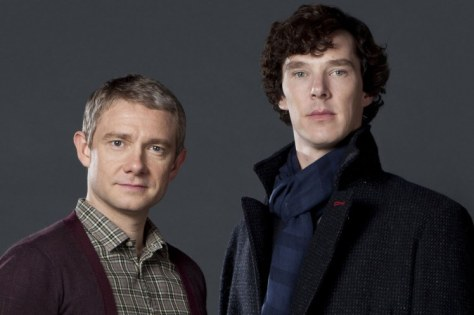 Martin Freeman and Benedict Cumberbatch in Sherlock