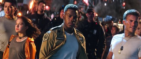John Boyega and Scott Eastwood in Pacific Rim: Uprising
