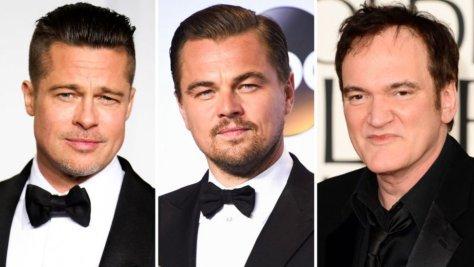 Brad Pitt, Leonardo DiCaprio, and Quentin Tarantino