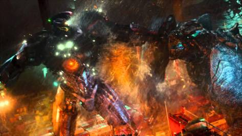 Gipsy Danger vs. Leatherback in Pacific Rim