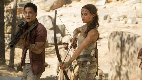 Daniel Wu and Alicia Vikander in Tomb Raider