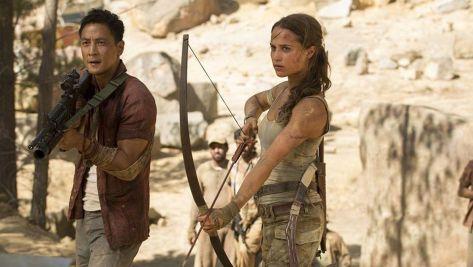 Daniel Wu and Alicia Vikander in Tomb Raider