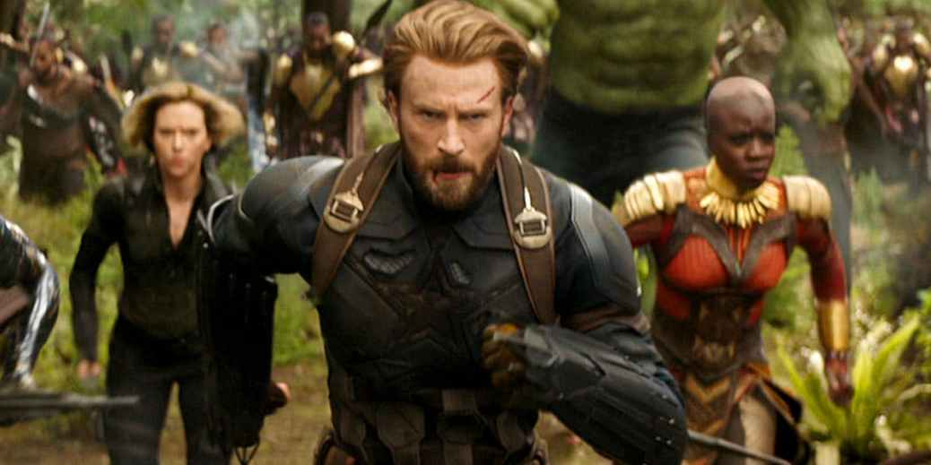 Scarlett Johansson, Chris Evans in Avengers: Infinity War