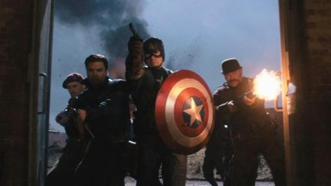 Sebastian Stan, Chris Evans in Captain America: The First Avenger