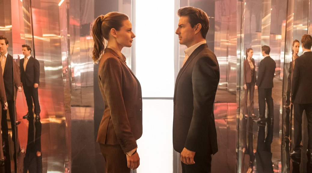 Rebecca Ferguson and Tom Cruise in Mission Impossible: Fallout