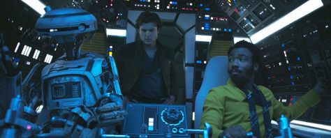 Alden Ehrenreich and Donald Glover in Solo: A Star Wars Story