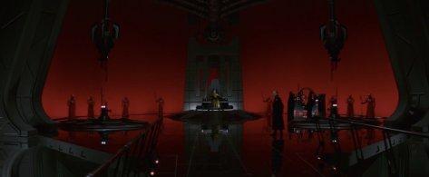 Snoke's Throne Room in Star Wars: The Last Jedi