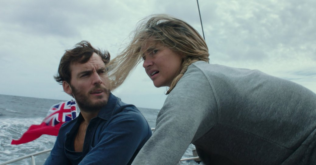 Sam Claiffin and Shailene Woodley in Adrift