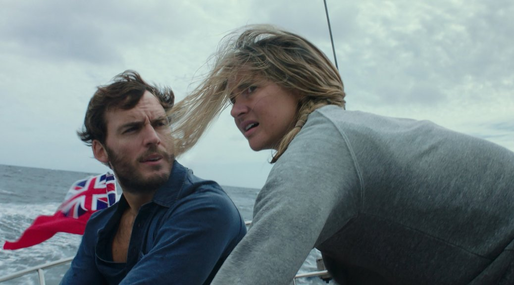 Sam Claiffin and Shailene Woodley in Adrift