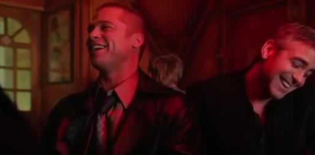 Brad Pitt and George Clooney in Ocean's 12