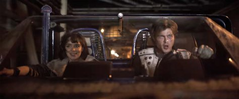 Emilia Clarke and Alden Ehrenreich in Solo: A Star Wars Story